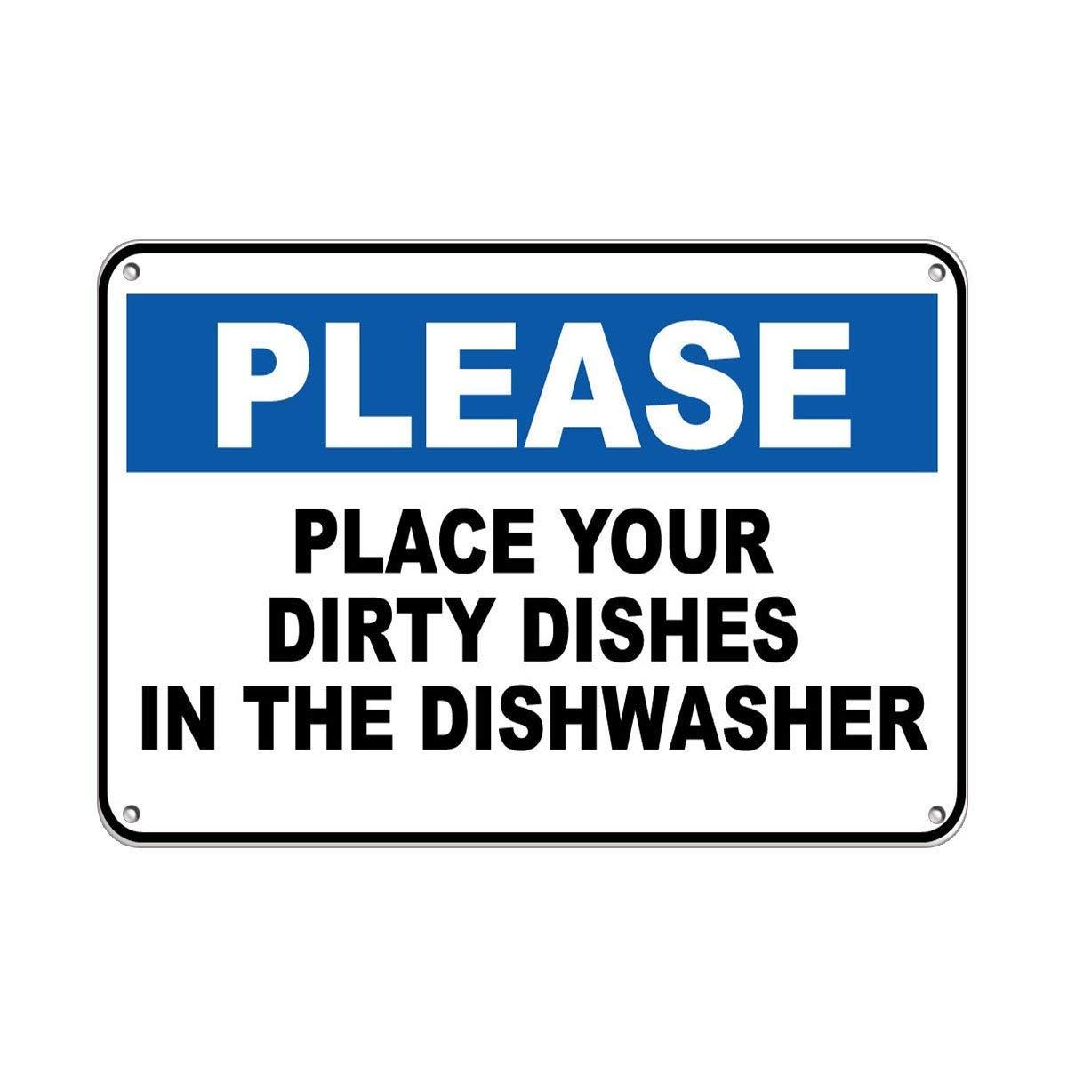 Amazon.com: Feddiy Por favor, coloque sus platos sucios en ...