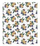 Chaoran 1 Fleece Blanket on Amazon Super Silky Soft All Season Super Plush Colorful Pineapple with Leaves Pattern Hawaii Rainforest Tropics Holidays Art Print Fabric et Orange Cobalt