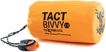 Tact Bivvy Compact Ultra Lightweight Sleeping Bag - 100% Waterproof Ultralight Thermal Bivy Sack Cover
