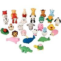ThinkMax Animal y Gomas de borrar Comida, Lindo Goma Gomas de borrar lápiz, Colorido del Partido del Favor de los niños…
