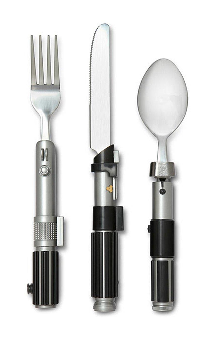 amazon com star wars lightsaber flatware utensil set includes luke
