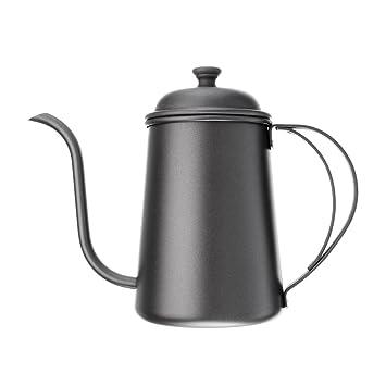Tetera de acero inoxidable para café con cuello de cisne con ...