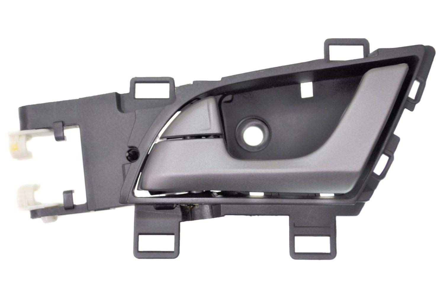 PT Auto Warehouse AC-2405RA-FL Front Left Driver Side Interior Inner Inside Door Handle Silver Lever with Black Housing