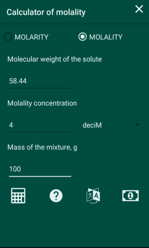 Amazon Molaritymolality Calculator Appstore For Android