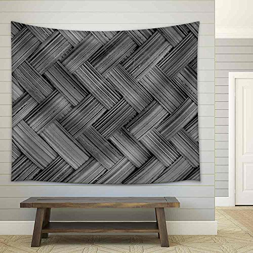 the Black and White Bamboo Texture and Background Fabric Wall Tapestry