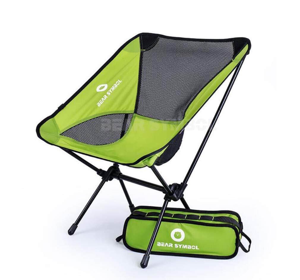 DUBAOBAO Camping Stuhl Outdoor-Falten Anti-Reißende Nylon-Freizeit-Stuhl Outdoor Ultra Light Portable 7075 Aluminium-Legierung Stuhl