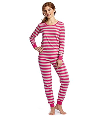 a9c4c62af Leveret Women s Pajamas Fitted Striped 2 Piece Pjs Set 100% Cotton ...