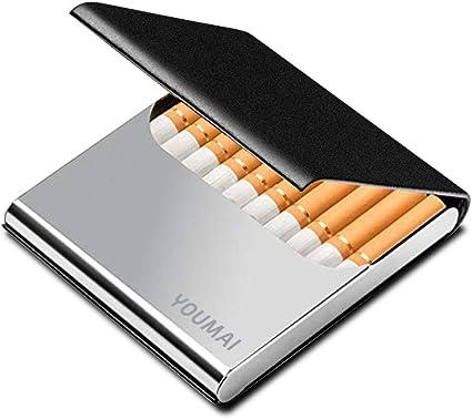 Estuche De Cigarrillos De Moda 20 Piezas Cigarrillos Regulares Cigarrillos Port/átiles King Size Encendedores USB 2 En 1 Caja De Cigarrillos Recargable Sin Llama A Prueba De Viento,Verde