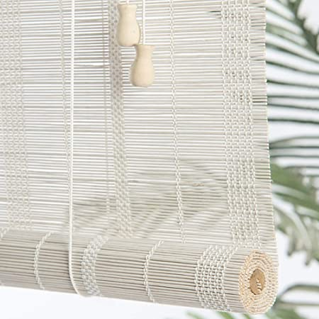 Estores Enrollables Bambú Blanco Bambú Enrollar Persianas de Ventana, para Jardín Al Aire Libre Pérgola Balcón Porche Dormitorio Sombras de Sun, 90cm / 110cm / 130cm / 150cm de Ancho: Amazon.es: Hogar