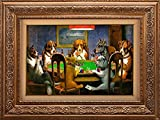 Creative 3D Visual Effect Wall Mural - A Friend in Need (Dogs Playing Poker) by C.M. Coolidge - Peel & Stick Wall Decor - 24''x32''