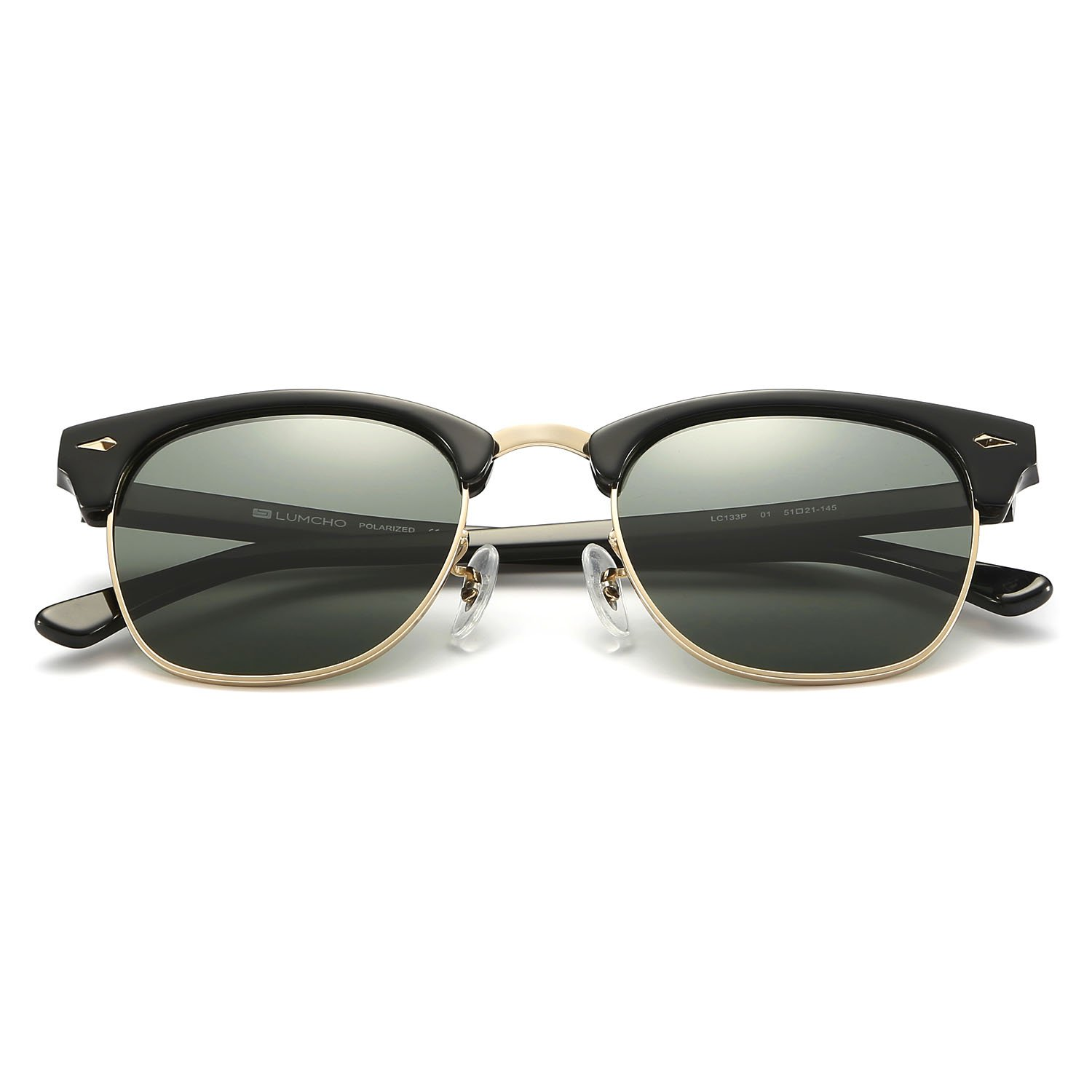 d58dca7b9da Amazon.com  Clubmaster Sunglasses LUMCHO 49MM LC13301S  Clothing