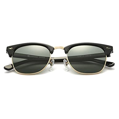 fba7ae937cb25 Amazon.com  Clubmaster Sunglasses LUMCHO 49MM LC13301S  Clothing