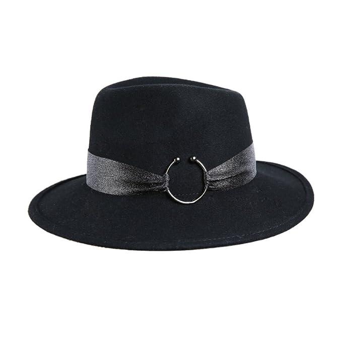 672cf42523562 Sombreros pequeños Sombrero de fieltro de Gran Bretaña en otoño e invierno  de lana  gran sombrero retro Inglaterra caps  sombrero jazz negro  salvaje-negro ...