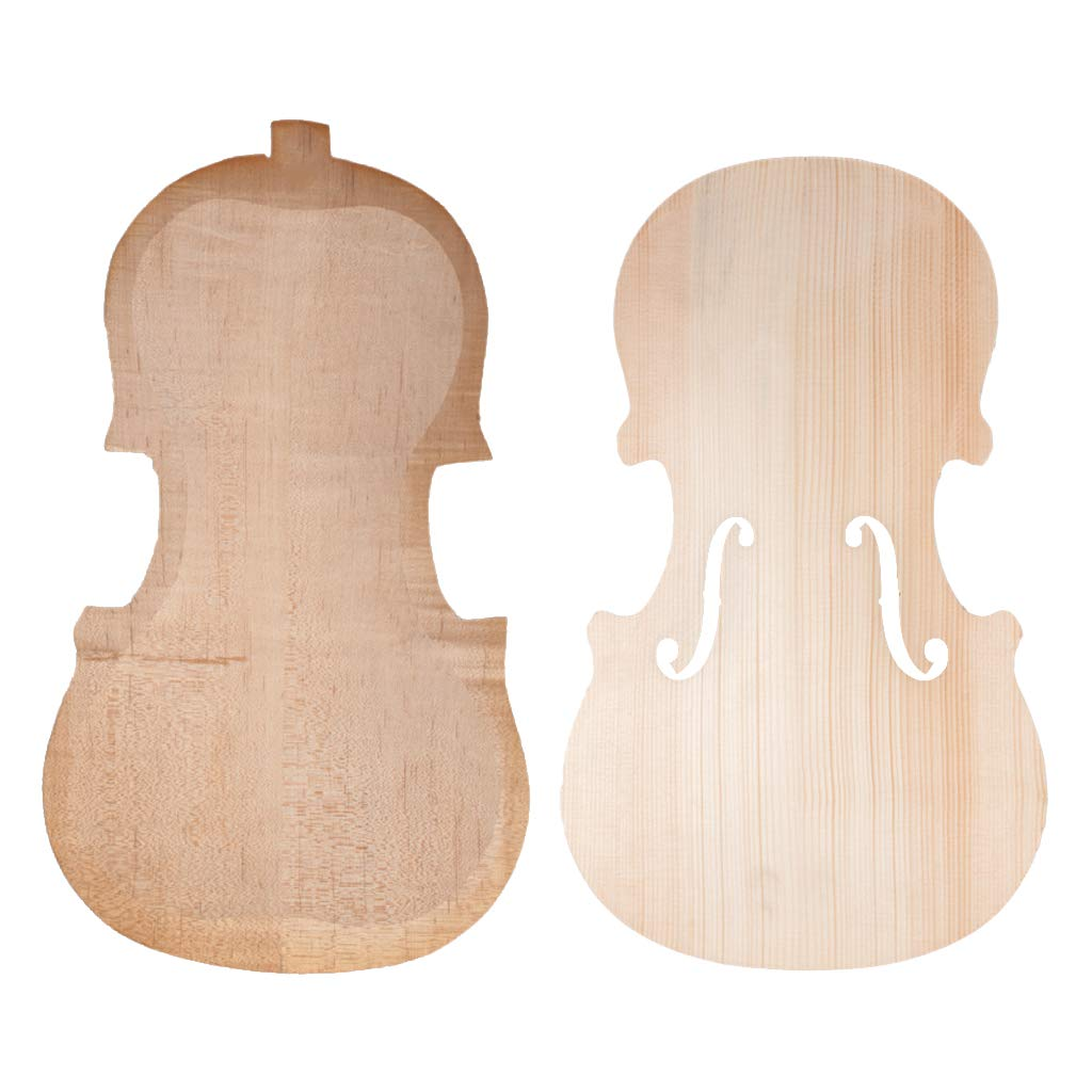 Flameer Finest Handcraft Violins Spruce Wood Front-Panel with Maple Wood Back - as described, for 4/4 Violin