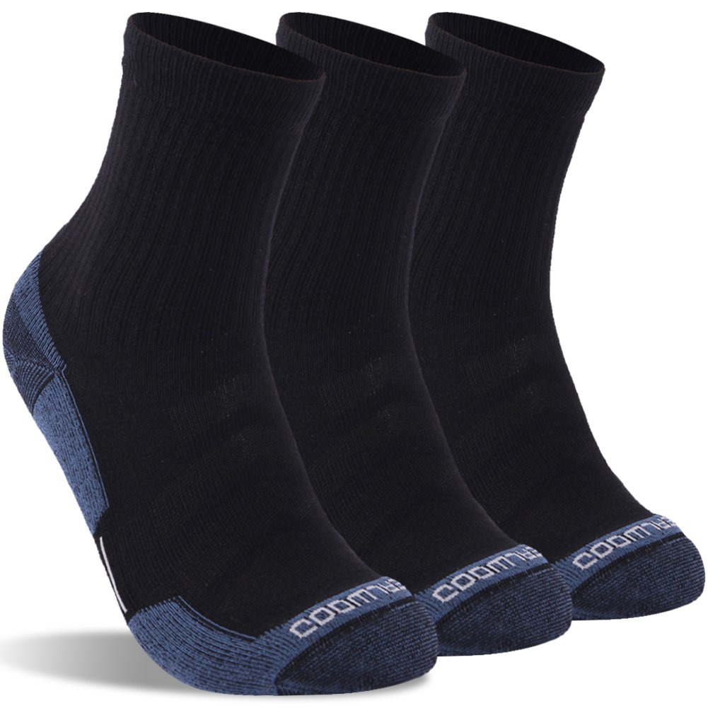 Ankle Athletic Socks, ZEALWOOD Men Antimicrobial Crew Compression-Fit Running Socks Hiking Socks for Men and Women by ZEALWOOD