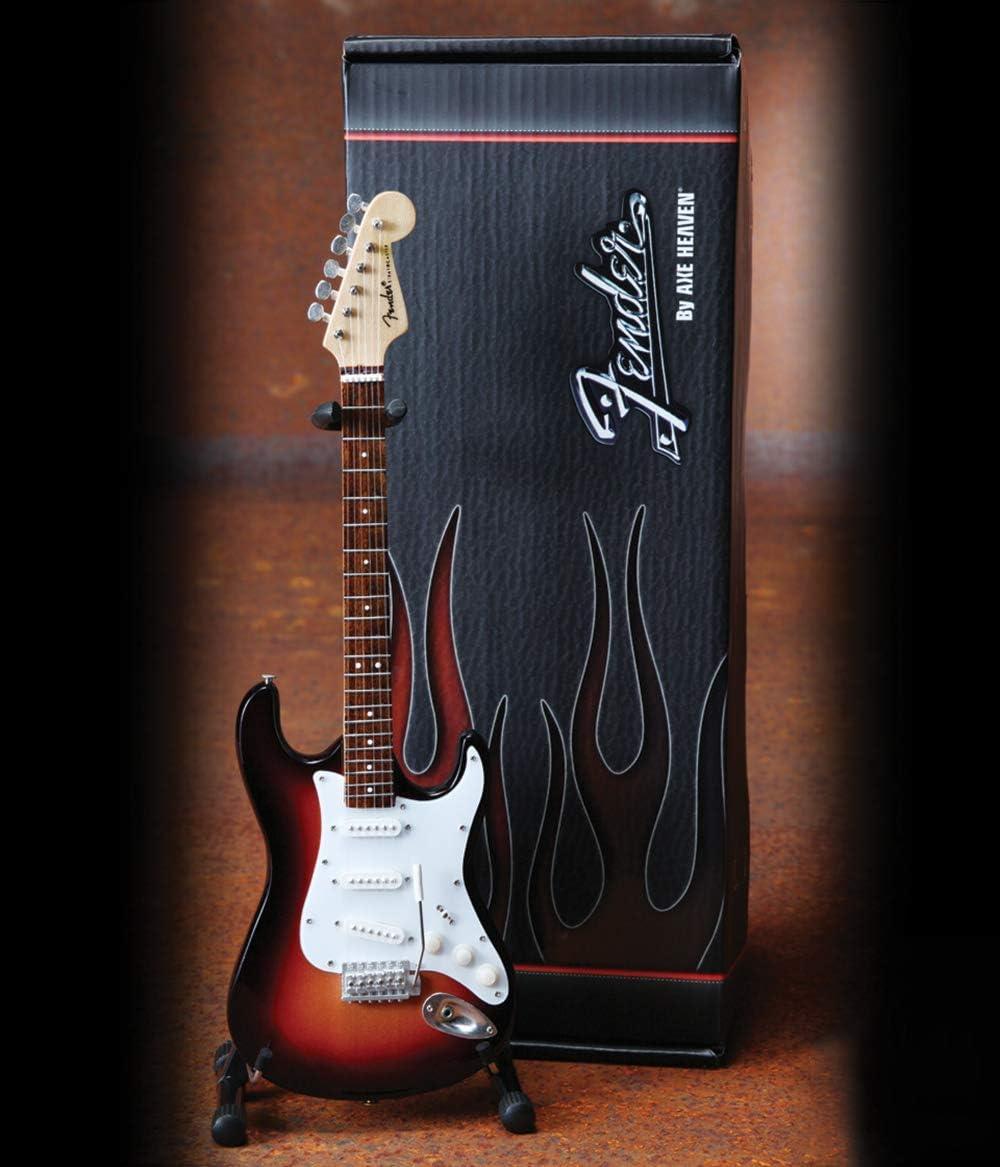 Miniature Black Guitar Case with Diecast Logo Fits Mini Axe Heaven Strat Tele