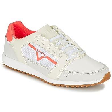 purchase cheap a2b16 4e055 Diesel S-Fleet Sneaker Herren Weiss/Rot - 42 - Sneaker Low ...