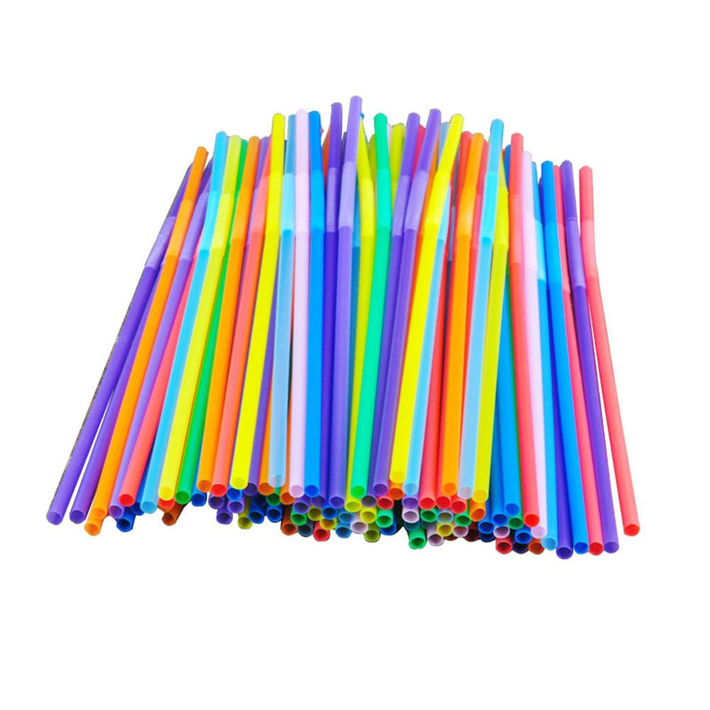 G4GADGET Original 100Pcs Super Extra Bendy Long Mega Drinking Straws Coloured Special Bar Home