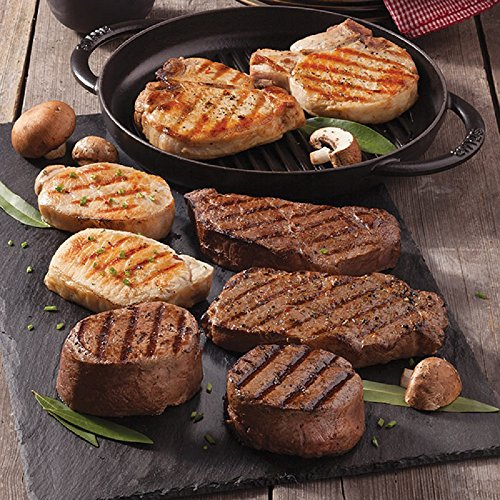 Gourmet Foods, Two 12 oz. Iowa Chops Two 6 oz. Colony-Cut Boneless Pork Chops Two 10 oz. New York Strips Two 6 oz. Filet Mignons by Unknown