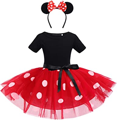 OBEEII Polka Dots Disfraz Carnaval Minnie Traje de Princesa para ...