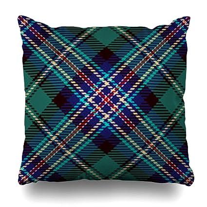 1dc39378d12 ArtsDecor Throw Pillow Covers Pattern Ancient Tartan Red Blue Black Green  Plaid Flannel Patterns Rustic Tiles