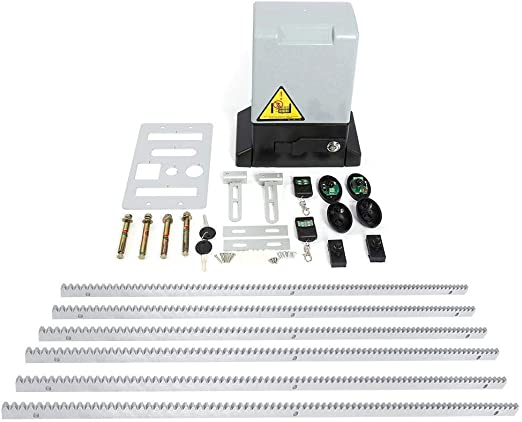 Kit para Puerta corredera automática, Motor de Puerta corredera, 12 m2/MAX + 2 mandos a Distancia por Infrarrojos + 1200 kg máx, 1.00V: Amazon.es: Bricolaje y herramientas