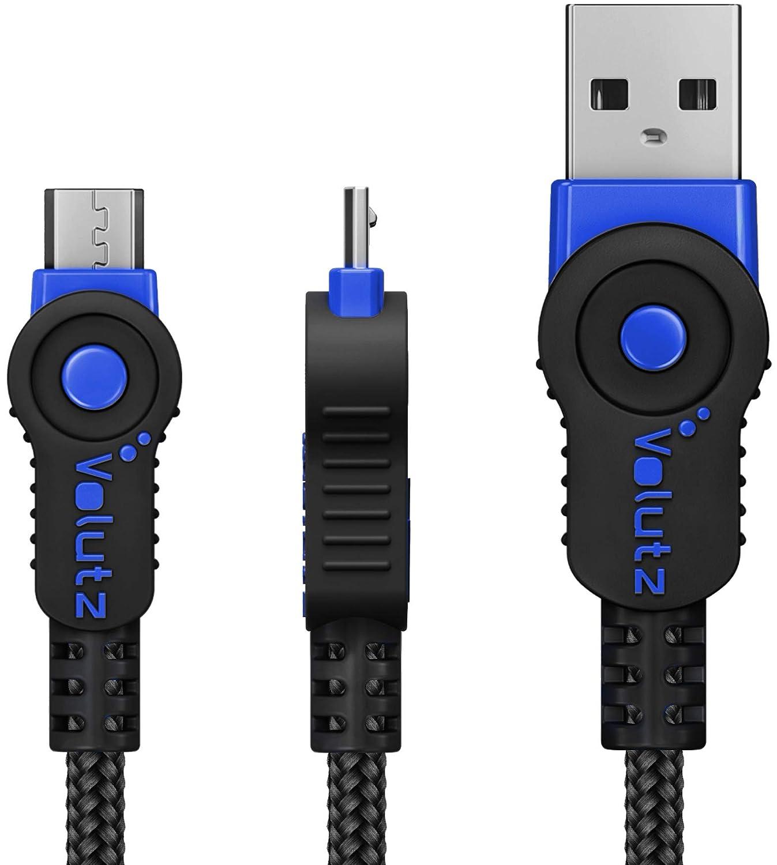 Volutz Cable Micro USB 3 Metros - Cable Cargador Equilibrium Super Resistente en Nylon Trenzado de Carga Rapida y Conector de Sincronización para ...