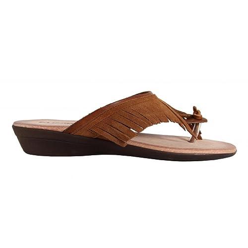 Cumbia Sandalo In Pelle Marrone Tacco 5 cm Bs3VIsP