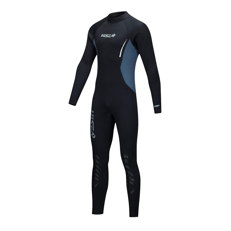5 mm ネオプレン フルボディ 長袖ウェットスーツ メンズ   フリース サーマル 保護   スキューバダイビング サーフィン 釣り カヤック 水泳用 B07HJ2B1KY  X-Large