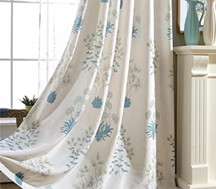Tende e tende per finestre fantasia Tende stampate in lino per ...