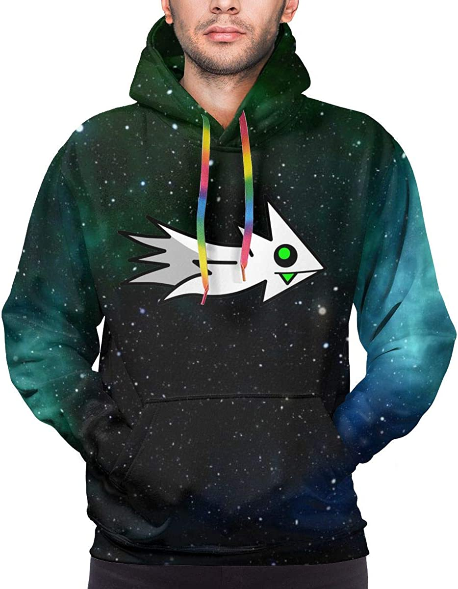 Ge-ome-Try Gaming Da-sh Men's Sweatshirt Hooded Pullover Hoodie Long Sleeve Color Drawstring
