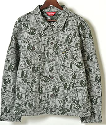 Amazon supreme 100 dollar bill trucker jacket 100 supreme 100 dollar bill trucker jacket 100 3 voltagebd Choice Image