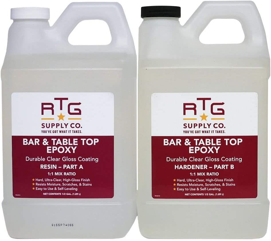 RTG Supply Co. Bar & Table Top Epoxy Resin For Tables (Gallon)