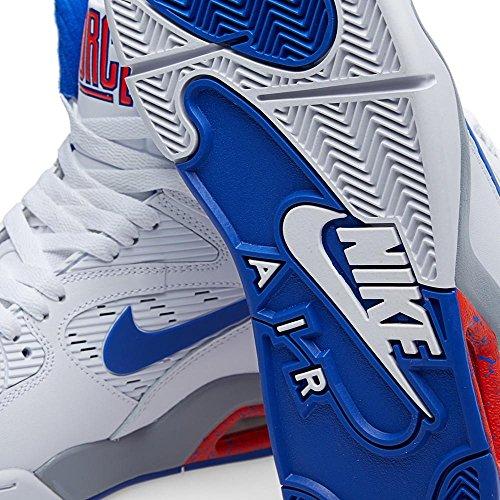 Nike Air Command Force Heren Schoenen White / Lyon Blue-bright Crimson-wolf Grey 684715-101