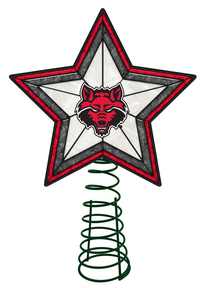 Buy Ncaa Arkansas State University Ag Tree Topper Arkansas St One Size Multicolor Online At Low Prices In India Amazon In