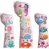 Sea Creature Temporary Tattoos for Kids - Cute Ocean Animals Temporary Fake Tattoo,Ocean Theme Waterproof Temporary Tattoos f