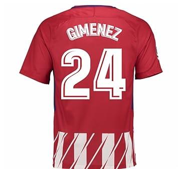 T Shirt Football Atletico De Madrid 1st Rojiblanca 2017 18 Adult