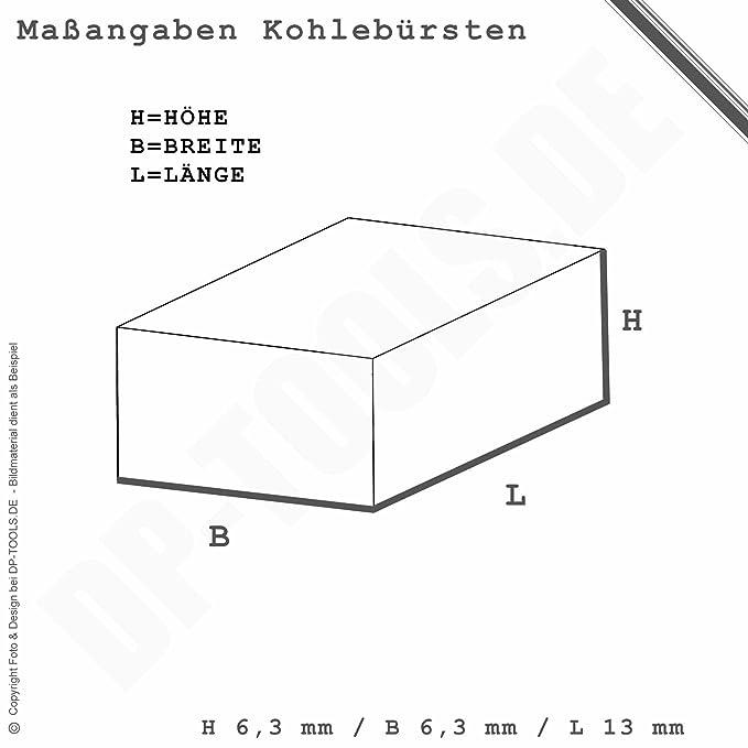 Kohlebürsten Kohlen für BLACK/&DECKER KR 400 REK 6,3x6,3mm
