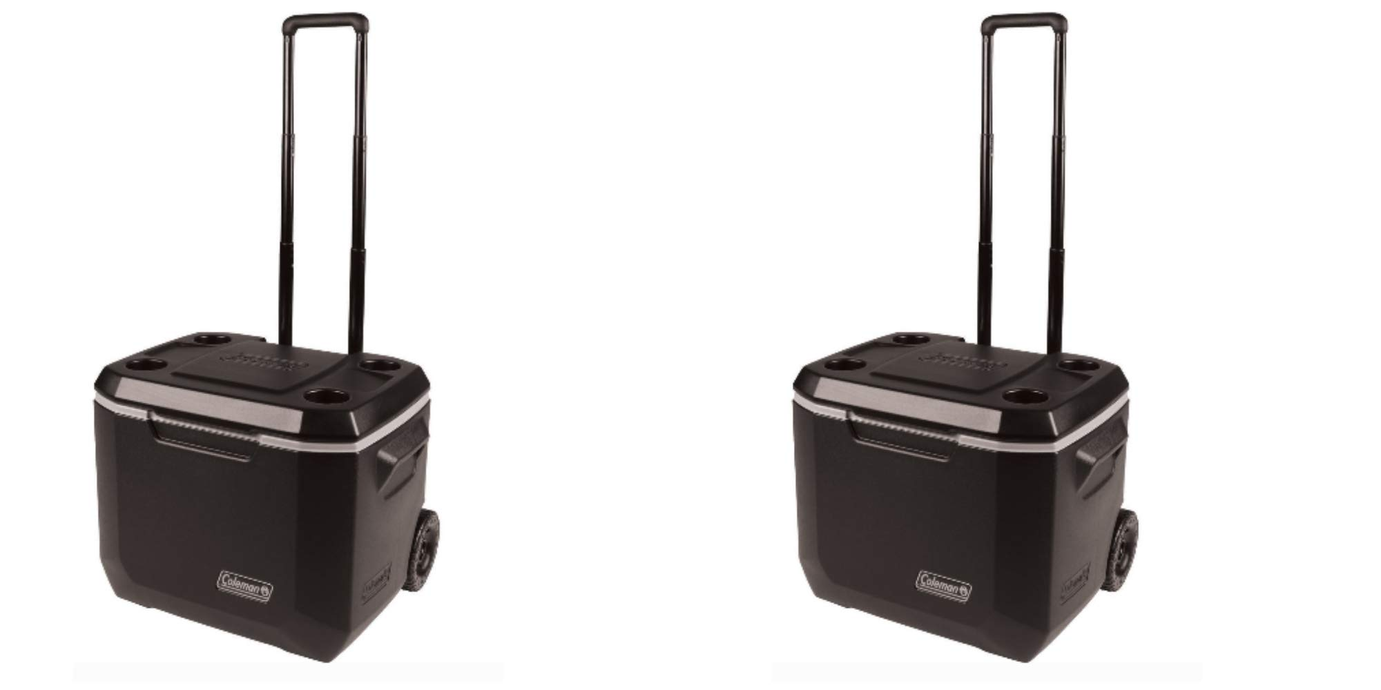 Coleman 50-Quart Xtreme 5-Day Heavy-Duty Cooler with Wheels, Black/Pack of 2