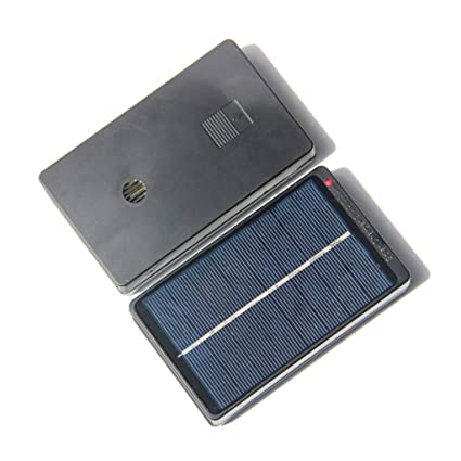 D DOLITY 4V 1W Tablero Solar Cargador de Batería para 4 Baterías AA AAA Recargables, Respetuoso con El Medio Ambiente