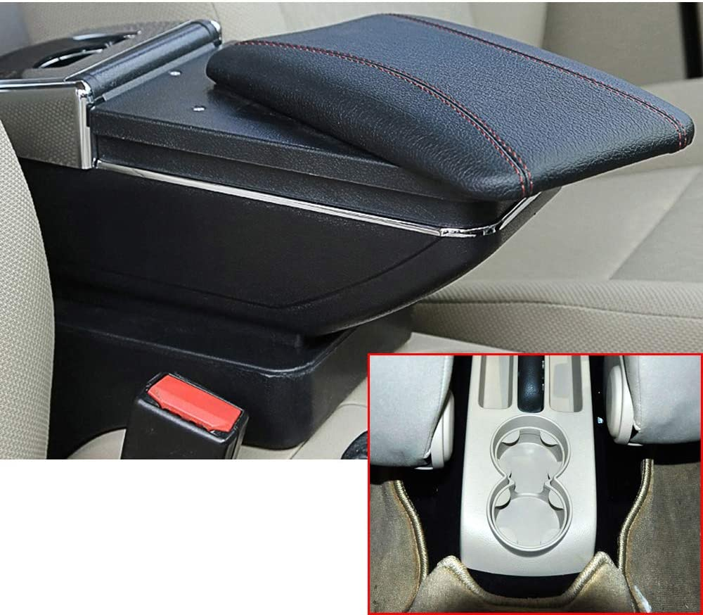 Pour V olkswagen Polo 9N 2002-2009 Voiture Accoudoir Accessoire Avec porte-gobelet Cendrier amovible Beige