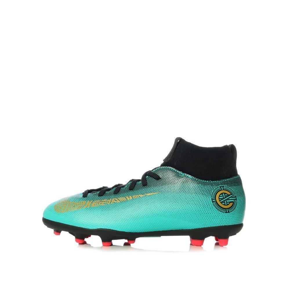 Nike Tomaia in Pelle Verde Acqua con Logo Oro