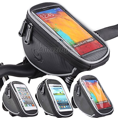 Roswheel Cycling Bike Handlebar Bags Quick Release Bicycle Front Top Frame Pouch for Touch Screen Phone - 4.2/4.8/5.5 inch Multi Size (Small)