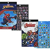 Spiderman and Marvel Avengers Sticker Pad Set (400+ Stickers Total)