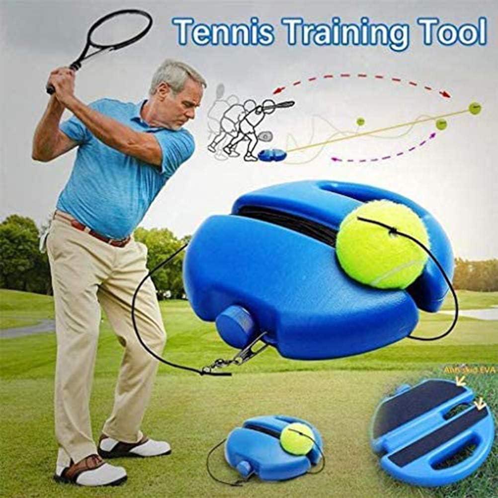 Tennis Trainer Rebound Baseboard Self Tennis Training Tool Tennis Equipment Tennis Ball Trainer Back Base Trainer Set for Kids Adult Beginner zuoshini Tennis Trainer