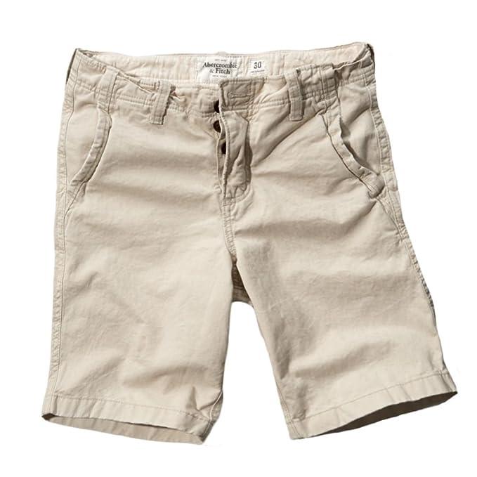 Abercrombie   Fitch - Pantalón corto - chino - Básico - para hombre marfil  gris d2aa7ccb63f