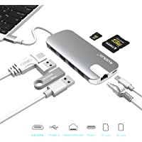 KODLIX GN30H USB-C Hub Aluminum Multi-Port Type-C Adapter with 4K HDMI (30Hz), Type-C Pass Through Charging on PD, Ethernet/SD/Micro Card Reader/3 USB 3.0 Ports (Space Gray)