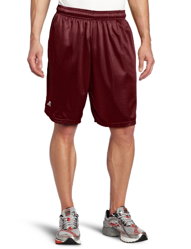 Russell Athletic Men's Mesh Short with Pockets, Maroon, 3X-Large
