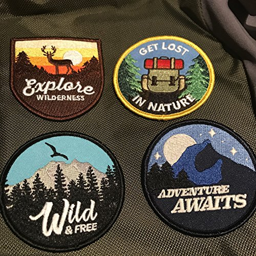 Adventure Patch - Glow-in-The-Dark Iron on Patches for Jackets, Backpacks, and Clothing