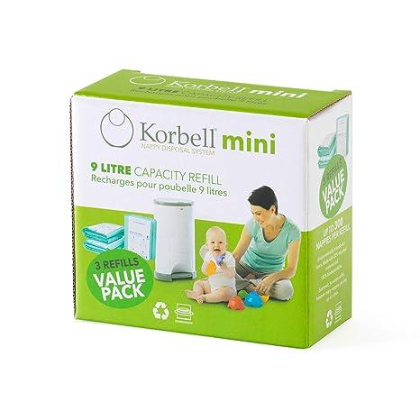 Korbell 220DR3B - Cubos de basura para pañales y recambios